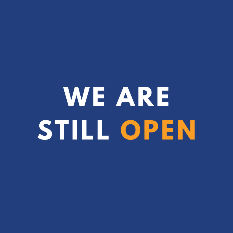 Image: We are still open